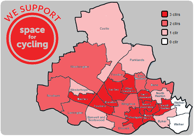 Space for Cycling - Newcastle ward level support