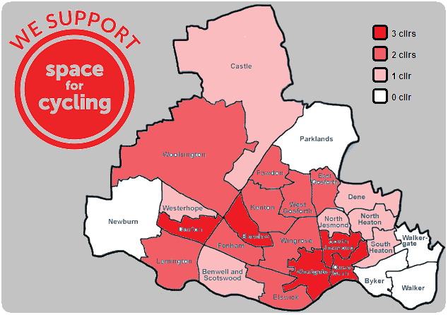 Space for Cycling - Newcastle ward level support></p> <div class=