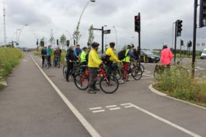 Cycle track crossing main road