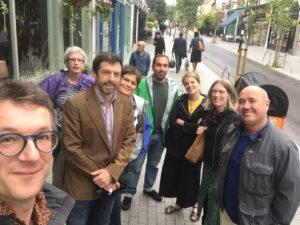 Newcastle delegation on Orford Road